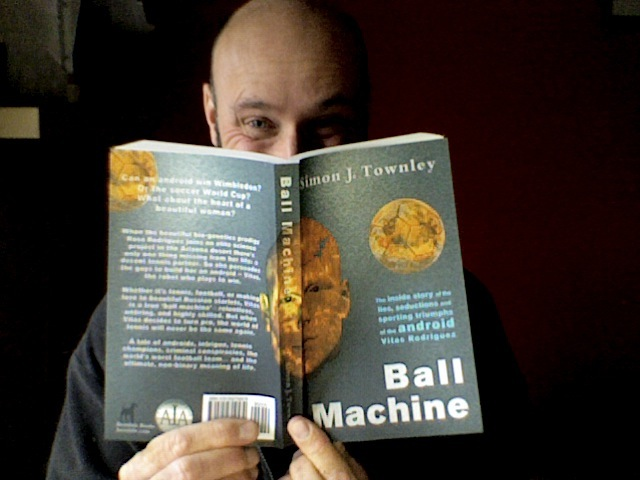 The author, with his proof copy.